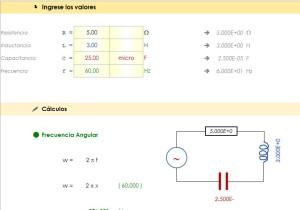 Impedancia de Circuitos RLC en Serie - Excel Para Ingeniería